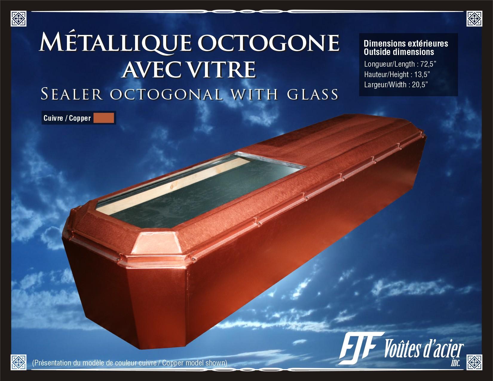 cercueil avec vitre